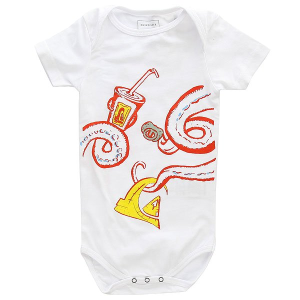 Боди детский Quiksilver Ssbobbachipiron I White<br><br>Цвет: белый<br>Тип: Боди<br>Возраст: Детский