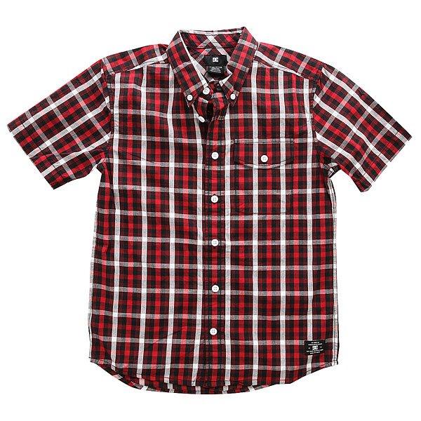 Рубашка в клетку детская DC Atura 4 Ss Boy Black рубашка в клетку dc atura 3 atura varsity blue