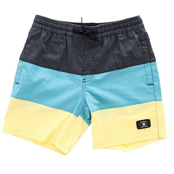 Шорты пляжные детские DC Henning Boy Dark Indigo<br><br>Цвет: синий,желтый<br>Тип: Шорты пляжные<br>Возраст: Детский