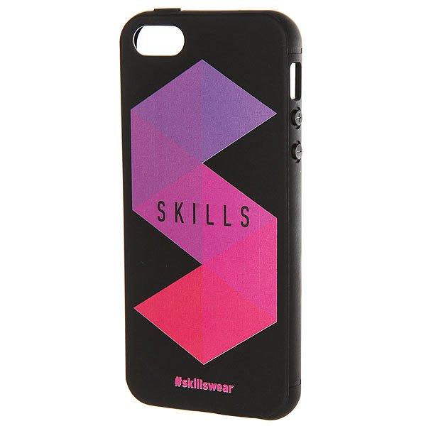 Чехол для iPhone Skills Треугольники Iphone 5/5s Черный<br><br>Цвет: черный,фиолетовый,розовый<br>Тип: Чехол для iPhone<br>Возраст: Взрослый<br>Пол: Мужской