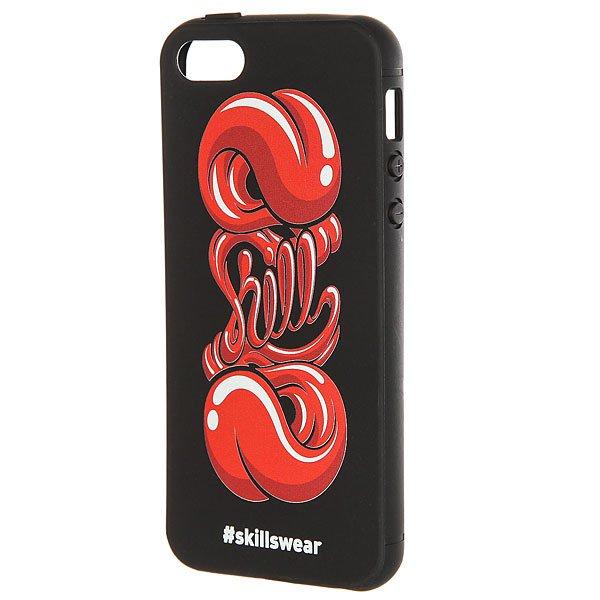 Чехол для iPhone Skills Язык Iphone 5/5s Черный<br><br>Цвет: черный,красный<br>Тип: Чехол для iPhone<br>Возраст: Взрослый<br>Пол: Мужской