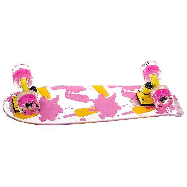 Скейт мини круизер Virgin Ice Cream  Clear/Yellow/Pink 6.5 x 22.4 (57 см)