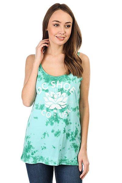 Майка женская DC Shoes Crystal Flower Aqua Sky<br><br>Цвет: голубой,зеленый<br>Тип: Майка<br>Возраст: Взрослый<br>Пол: Женский
