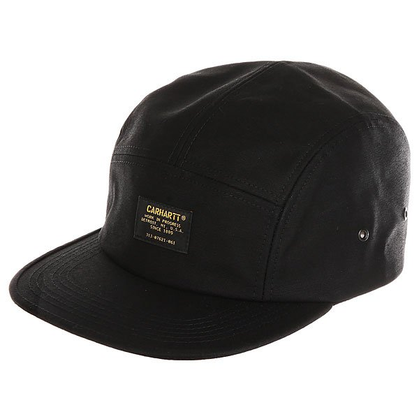 Бейсболка пятипанелька Carhartt WIP Wip Military Cap Black бейсболка carhartt wip i022329 black