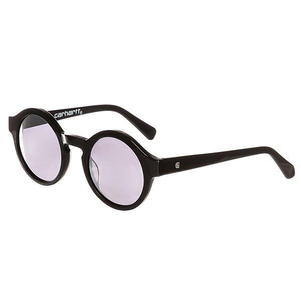 Очки Carhartt WIP Wip Fox Sunglasses Black/Black Mirrored Lenses очки carhartt wip dearborn sunglasses cypress matte green mirrored lenses