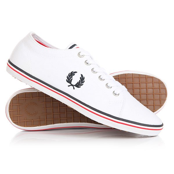 Кеды кроссовки низкие Fred Perry Kingston Twill Clean White
