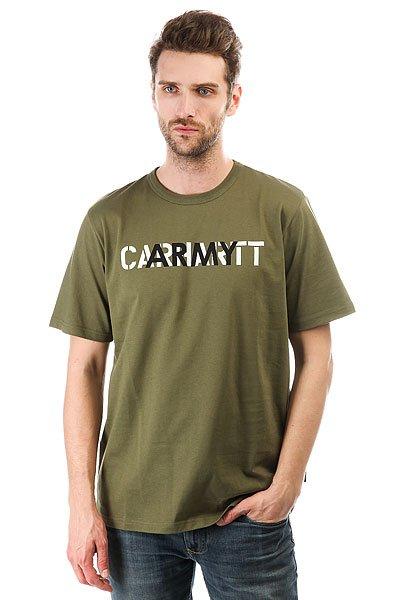 Футболка Carhartt WIP Ca Training Rover Green<br><br>Цвет: зеленый<br>Тип: Футболка<br>Возраст: Взрослый<br>Пол: Мужской