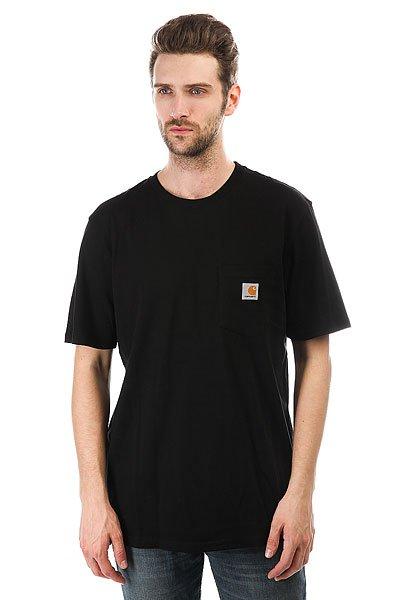 Футболка Carhartt WIP Pocket T-shirt Black<br><br>Цвет: черный<br>Тип: Футболка<br>Возраст: Взрослый<br>Пол: Мужской