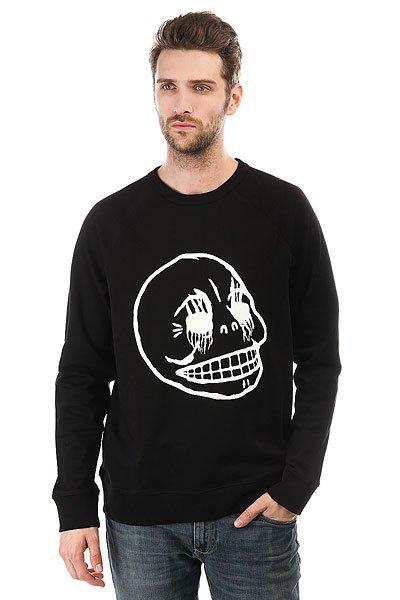 Толстовка классическая женская Cheap Monday Rules Sweat Corpse Skull Black<br><br>Цвет: черный,белый<br>Тип: Толстовка классическая<br>Возраст: Взрослый<br>Пол: Мужской