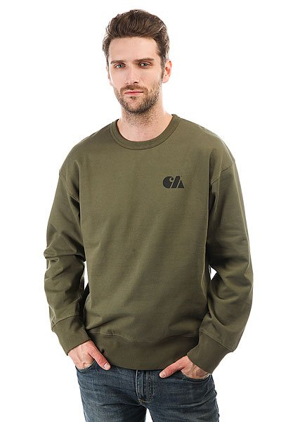 Толстовка классическая Carhartt Military Training Sweatshirt Rover Green/Black<br><br>Цвет: зеленый<br>Тип: Толстовка классическая<br>Возраст: Взрослый<br>Пол: Мужской