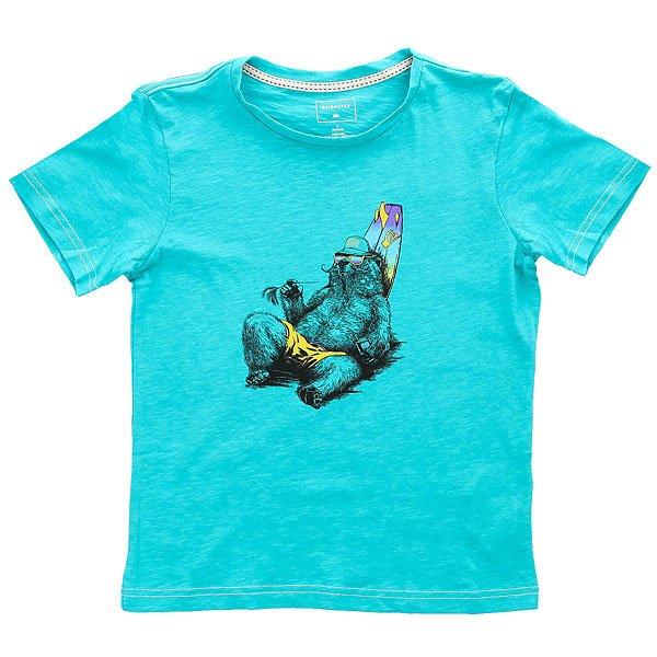 Футболка детская Quiksilver Ssslubteeblm Viridine Green<br><br>Цвет: голубой<br>Тип: Футболка<br>Возраст: Детский