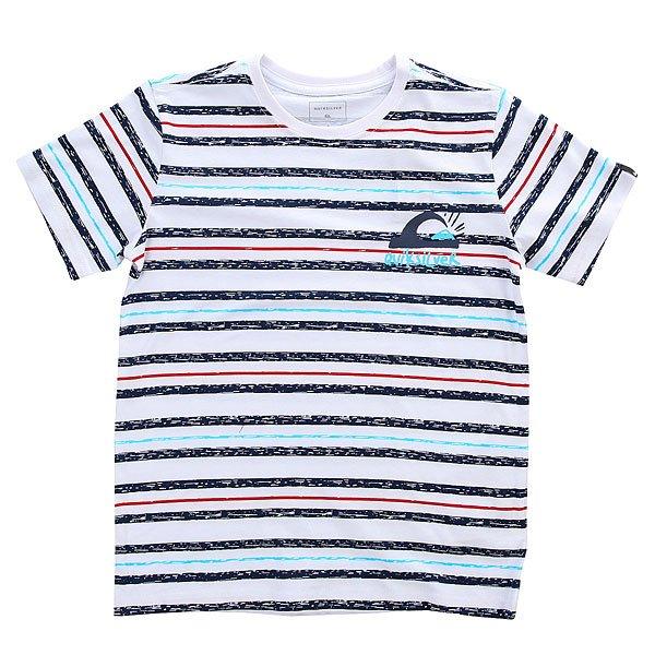 Футболка детская Quiksilver Ssteeboylogospa White<br><br>Цвет: белый,синий<br>Тип: Футболка<br>Возраст: Детский