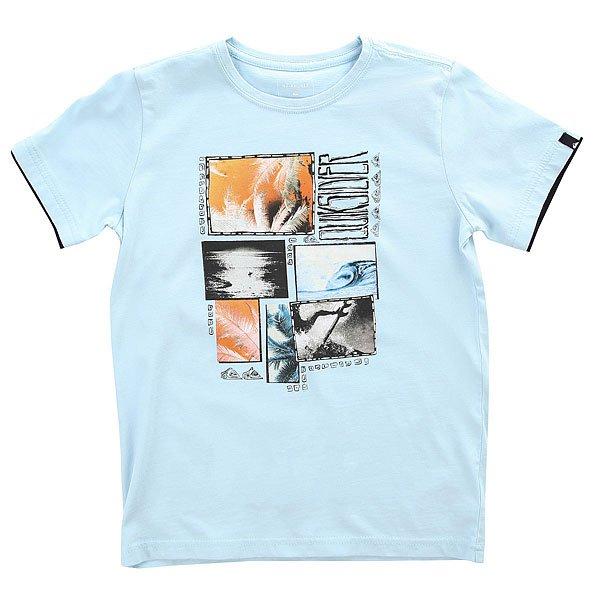 Футболка детская Quiksilver Ssteeboyparadis Angel Falls<br><br>Цвет: голубой<br>Тип: Футболка<br>Возраст: Детский