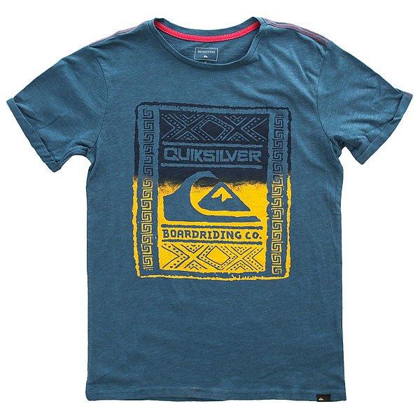Футболка детска Quiksilver Ssslubyouwallup Indian Teal<br><br>Цвет: синий<br>Тип: Футболка<br>Возраст: Детский