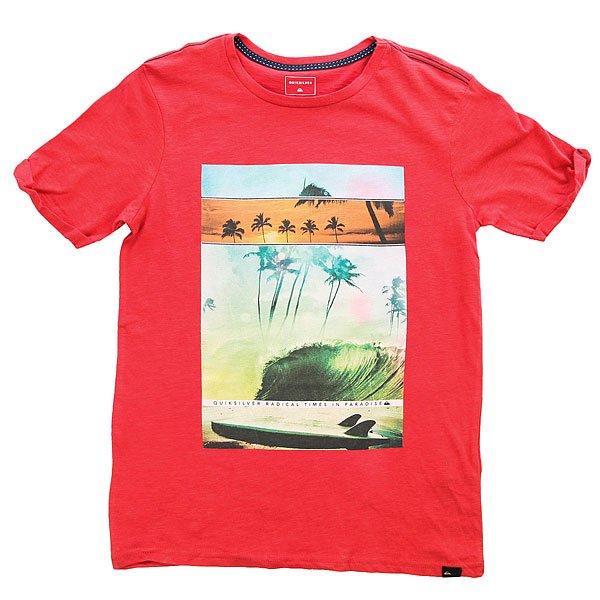 Футболка детская Quiksilver Ssslutegoochoic Cardinal<br><br>Цвет: красный<br>Тип: Футболка<br>Возраст: Детский
