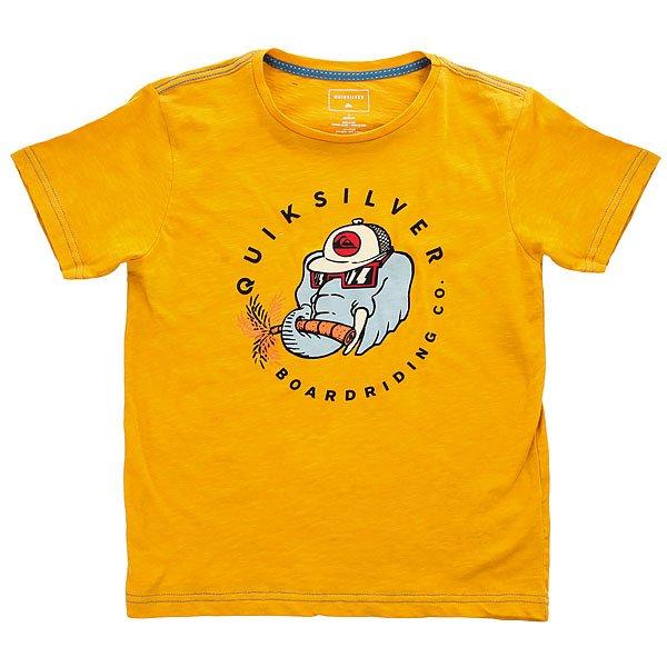 Футболка детская Quiksilver Slubteebobo Golden Glow<br><br>Цвет: оранжевый<br>Тип: Футболка<br>Возраст: Детский