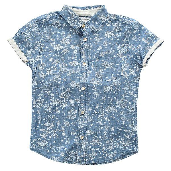 Рубашка детская Quiksilver Bloomfielddivyt Indigo Pyramid<br><br>Цвет: синий<br>Тип: Рубашка<br>Возраст: Детский