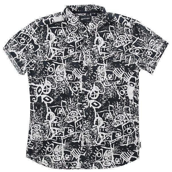 Рубашка детская Quiksilver Hypnosisshirtyo Black Hypnosis<br><br>Цвет: черный,белый<br>Тип: Рубашка<br>Возраст: Детский