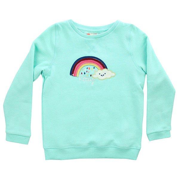 Толстовка свитшот детская Roxy Runnersofdays Beach Glass Heather<br><br>Цвет: голубой<br>Тип: Толстовка свитшот<br>Возраст: Детский