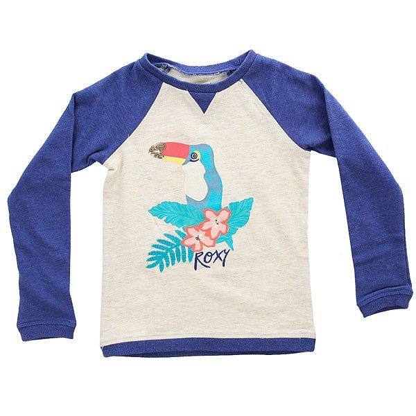 Толстовка свитшот детская детская Roxy Myarmsaroundyou Royal Blue Heather<br><br>Цвет: бежевый,синий<br>Тип: Толстовка свитшот<br>Возраст: Детский