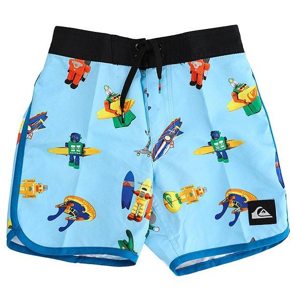 Шорты пляжные детские Quiksilver Submsurfboy11 Bonnie Blue<br><br>Цвет: голубой,мультиколор<br>Тип: Шорты пляжные<br>Возраст: Детский