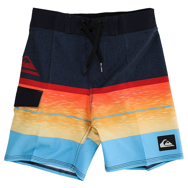 Шорты пляжные детские Quiksilver Slablogoboy12 Navy Blazer<br><br>Цвет: синий,оранжевый,красный,голубой<br>Тип: Шорты пляжные<br>Возраст: Детский