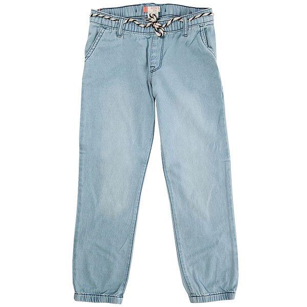 Штаны прямые детские Roxy Folkfield Light Blue<br><br>Цвет: голубой<br>Тип: Штаны прямые<br>Возраст: Детский