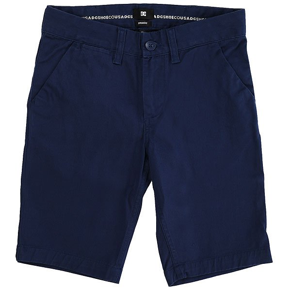 Шорты классические детские DC Shoes Worker Straight Summer Blues<br><br>Цвет: синий<br>Тип: Шорты классические<br>Возраст: Детский