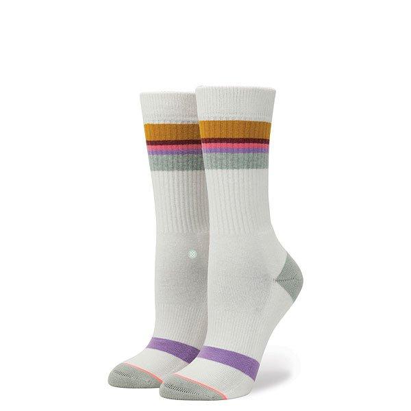 Носки высокие женские Stance Jiggy White<br><br>Цвет: белый,серый<br>Тип: Носки высокие<br>Возраст: Взрослый<br>Пол: Женский