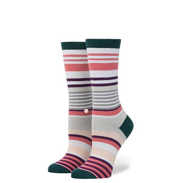 Носки высокие женские Stance Stripe Blossom Pink inov 8 носки all terrain sock mid l teal pink