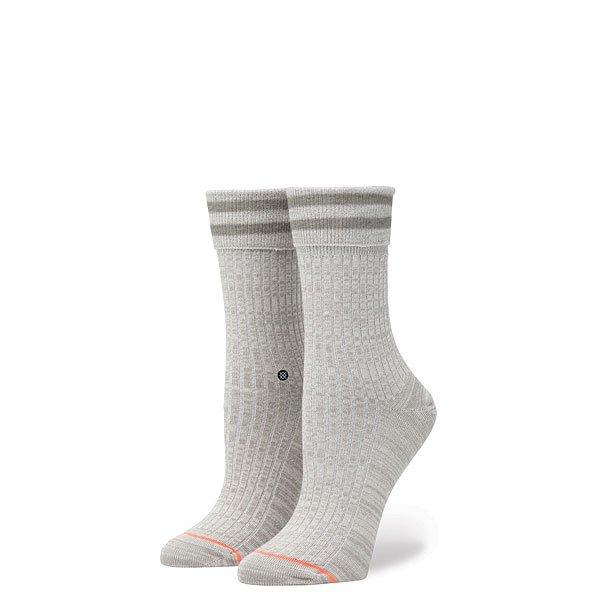 Носки высокие женские Stance Solids Uncommon Anklet White<br><br>Цвет: серый<br>Тип: Носки высокие<br>Возраст: Взрослый<br>Пол: Женский