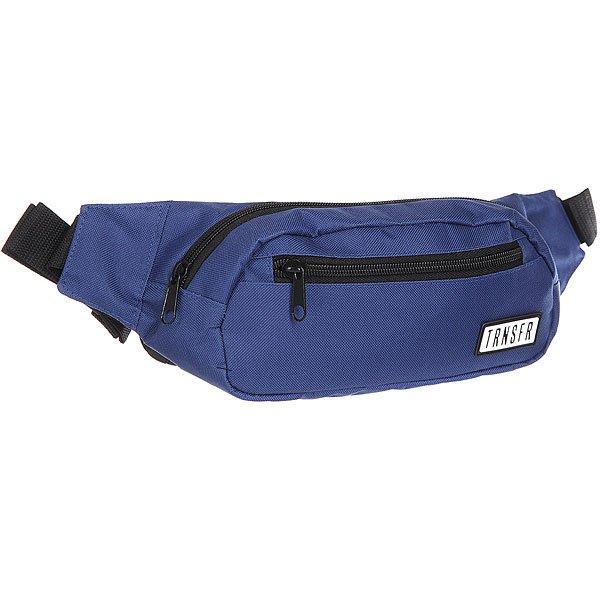 Сумка поясная Transfer Ninja NavyКомпактная сумка на пояс с карманами и регулируемым ремешком. Универсальный дизайн для спорта и активного отдыха.Характеристики:Одно отделение и два внешних кармана на молнии. Регулируемый ремешок с пластиковой застежкой. Компактный дизайн украшенный логотипом бренда Transfer.<br><br>Цвет: синий<br>Тип: Сумка поясная<br>Возраст: Взрослый<br>Пол: Мужской