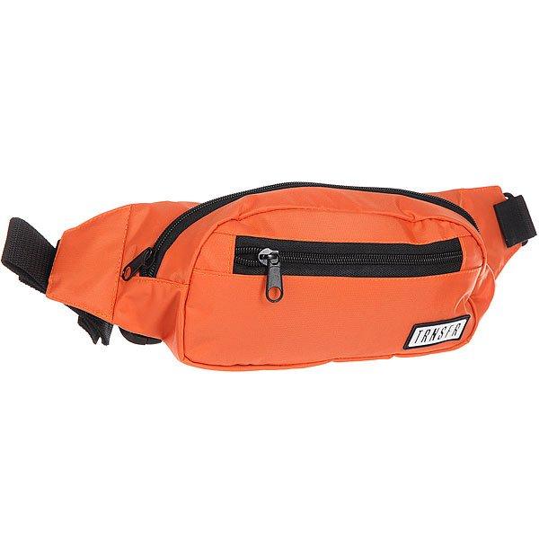 Сумка поясная Transfer Ninja OrangeКомпактная сумка на пояс с карманами и регулируемым ремешком. Универсальный дизайн для спорта и активного отдыха.Характеристики:Одно отделение и два внешних кармана на молнии. Регулируемый ремешок с пластиковой застежкой. Компактный дизайн украшенный логотипом бренда Transfer.<br><br>Цвет: оранжевый<br>Тип: Сумка поясная<br>Возраст: Взрослый<br>Пол: Мужской