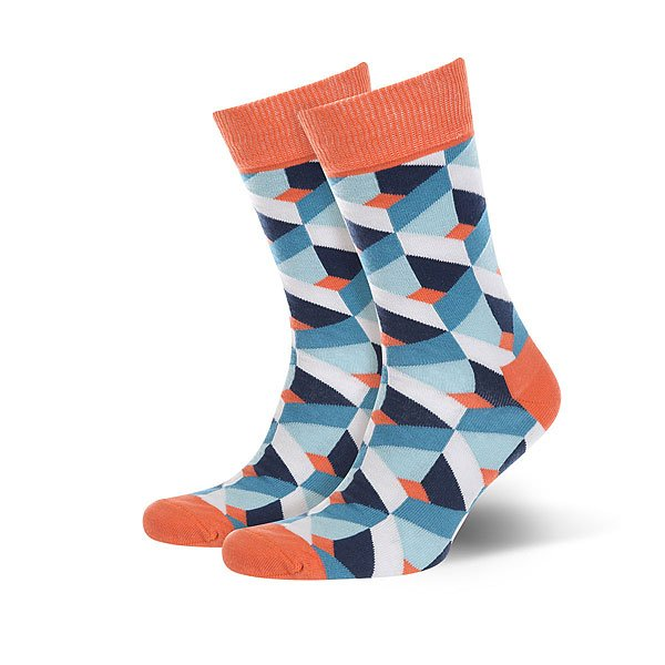Носки средние Sammy Icon Gaudi Blue/Orange/White<br><br>Цвет: голубой,оранжевый,белый<br>Тип: Носки средние<br>Возраст: Взрослый<br>Пол: Женский