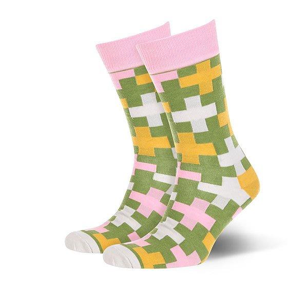 Носки средние Sammy Icon Versant Green/Pink/White<br><br>Цвет: зеленый,розовый,белый,желтый<br>Тип: Носки средние<br>Возраст: Взрослый<br>Пол: Женский