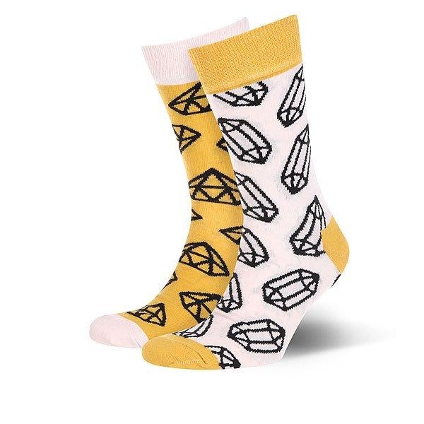 Носки средние Sammy Icon Radier Yellow/White<br><br>Цвет: белый,желтый<br>Тип: Носки средние<br>Возраст: Взрослый<br>Пол: Женский