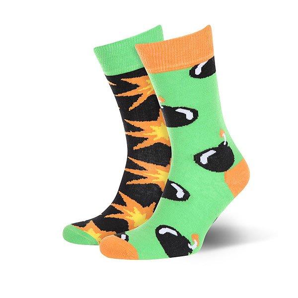 Носки средние Sammy Icon Blast<br><br>Цвет: черный,оранжевый,зеленый<br>Тип: Носки средние<br>Возраст: Взрослый<br>Пол: Мужской