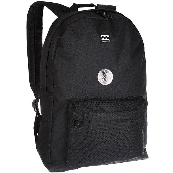 Рюкзак городской Billabong All Day Pack StealthВесь день, каждый день! Рюкзак для работы, учебы или пляжного отдыха. Классический дизайн с одним отделением, в которое можно сложить все, что угодно.Технические характеристики: Большое основное отделение.Передний карман на молнии.Мягкие регулируемые лямки.<br><br>Цвет: черный<br>Тип: Рюкзак городской<br>Возраст: Взрослый