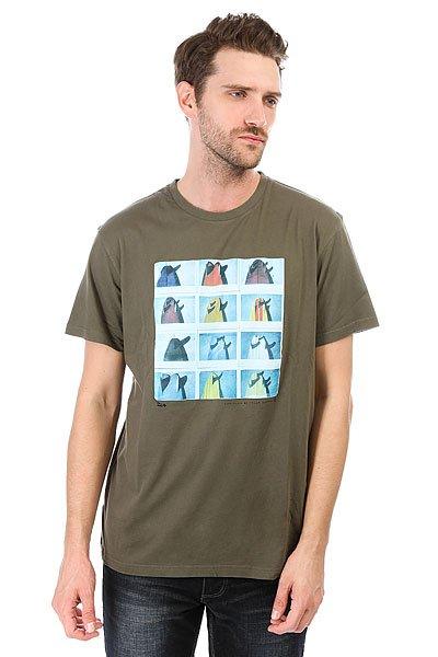 Футболка Billabong Tails Military<br><br>Цвет: зеленый<br>Тип: Футболка<br>Возраст: Взрослый<br>Пол: Мужской