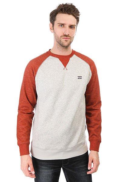 Толстовка кенгуру Billabong Balance Red Clay<br><br>Цвет: серый,оранжевый<br>Тип: Толстовка кенгуру<br>Возраст: Взрослый<br>Пол: Мужской