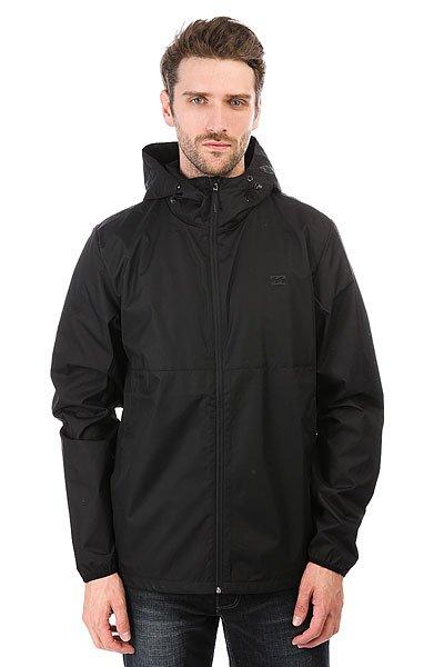 Ветровка Billabong Transpo. Windbreaker BlackПережить тропический шторм и ураганный ветер Вам поможет эта легкая куртка от Billabong. Компактная и удобная, созданная для путешествий, она покрыта 6мм полиуретаном для защиты от атмосферных воздействий. Застежка-молния, капюшон со шнурком-утяжкой, регулируемый подол, эластичные манжеты и два прорезных кармана для рук - в ней есть все самое необходимое.Характеристики:Прямой крой. Молния по всей длине. Два боковых прорезных кармана. Эластичные манжеты. Подол с утяжкой. Логотип на груди.<br><br>Цвет: черный<br>Тип: Ветровка<br>Возраст: Взрослый<br>Пол: Мужской