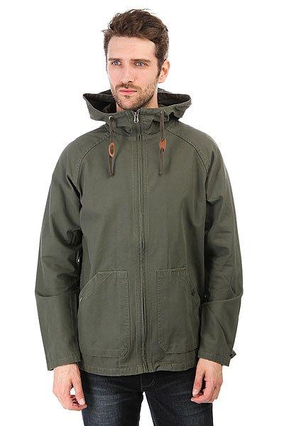 Куртка Billabong Abalone Jacket MilitaryКоллекция Surf Plus от Billabong предлагает Вашему вниманию отличную куртку Abalone. Ее утилитарный дизайн идеально подходит для жизни в городе: рукава реглан, регулируемые манжеты и капюшон, а также объемные застегивающиеся карманы. В ней Вам точно будет не страшна прохлада весны и осени!Характеристики:Коллекция Surf Plus.Рукава реглан. Регулируемые манжеты. Капюшон со шнурком-утяжкой.Застегивающиеся карманы для рук. Кожаная нашивка с логотипом на левом кармане<br><br>Цвет: зеленый<br>Тип: Куртка<br>Возраст: Взрослый<br>Пол: Мужской