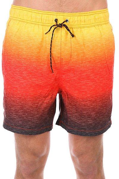 Шорты пляжные Billabong Sergio Slub Fader 16 Sunset<br><br>Цвет: желтый,оранжевый,красный<br>Тип: Шорты пляжные<br>Возраст: Взрослый<br>Пол: Мужской
