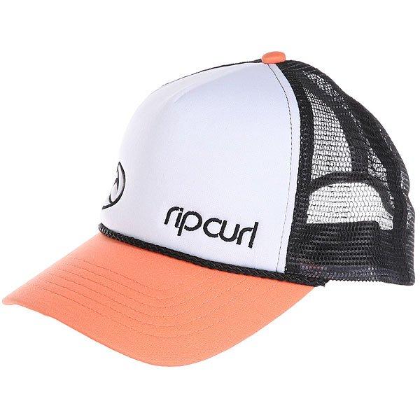 Бейсболка с сеткой женский Rip Curl Hotwire Trucka Cap Coral<br><br>Цвет: белый,черный,оранжевый<br>Тип: Бейсболка с сеткой<br>Возраст: Взрослый<br>Пол: Женский