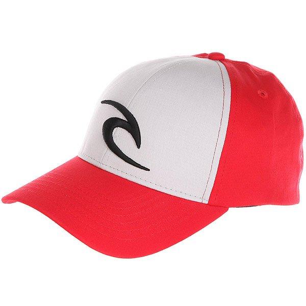 Бейсболка классическая Rip Curl Icon Snapback Cap Ribbon Red<br><br>Цвет: красный,серый<br>Тип: Бейсболка классическая<br>Возраст: Взрослый<br>Пол: Мужской