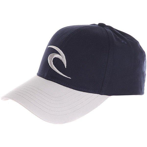 Бейсболка классическая Rip Curl Icon Snapback Cap Mood Indigo<br><br>Цвет: серый,синий<br>Тип: Бейсболка классическая<br>Возраст: Взрослый