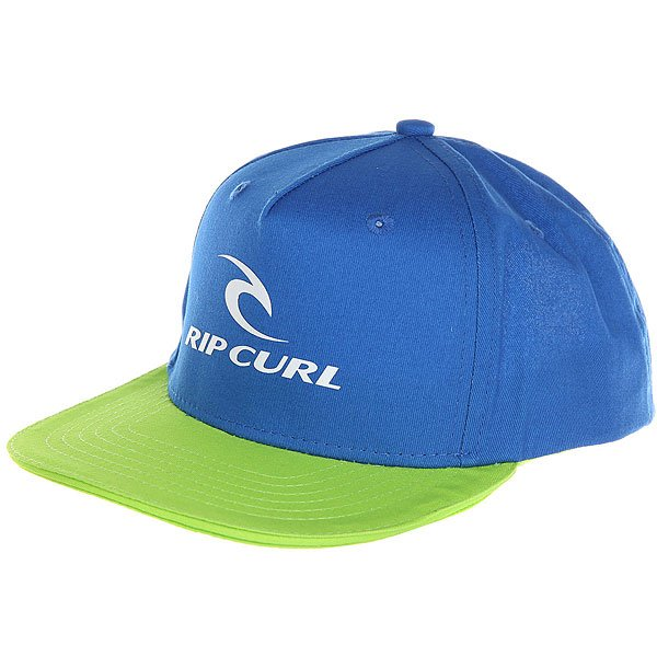 Бейсболка с прямым козырьком детская Rip Curl Corpo Mid Peak Cap Lime<br><br>Цвет: синий,зеленый<br>Тип: Бейсболка с прямым козырьком<br>Возраст: Детский