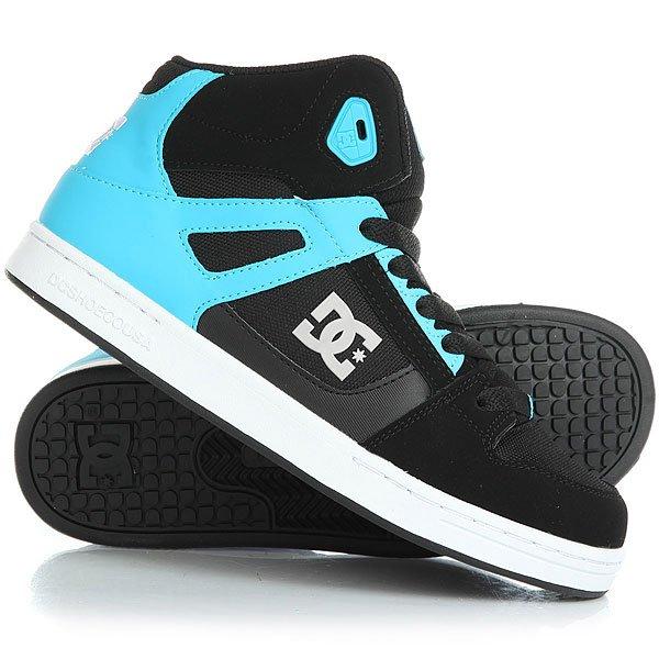 Кеды кроссовки высокие детские DC Rebound Se Black/Blue кеды кроссовки высокие женские dc rebound hi chambray