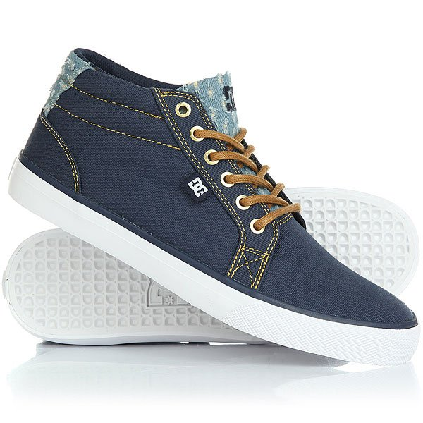Кеды кроссовки высокие DC Council Mid Tx Destroy Indigo dc shoes кеды dc council se navy camel 8