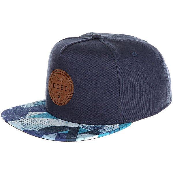Бейсболка с прямым козырьком DC Geosense Blue Geo Rusto dc shoes футболка dc wanderer blue iris